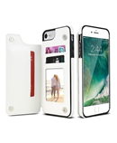 KISSCASE White PU Leather Iphone Wallet Case